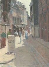 """Original michael richardson """"la rue de EUGENE BOUDIN HONFLEUR"""" France Peinture"""