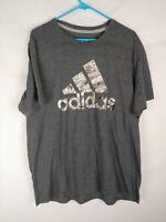 Adidas Go To Performance Tee Mens Gray Logo Graphic TShirt 2XL