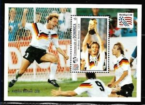 #9070 DOMINICA 1993 SPORTS FOOTBALL SOCCER WORLD CUP 94 GERMAN PLAYERS YV BL 246