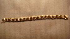 Bracelet gourmette maille américaine en or 18 carats - poinçons - vintage 1960