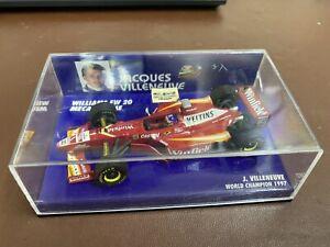 MINICHAMPS 1/43 WILLIAMS FW20 MECACHROME JACQUES VILLENEUVE 1998 MODEL F1 CAR