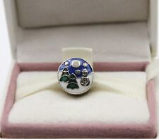 AUTHENTIC PANDORA Snowy Wonderland Charm, Blue & Green Enamel, 796384ENMX #1068