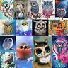 5D DIY Owl Pattern Diamond Painting Embroidery Cross Stitch Kit Home Craft Decor