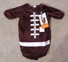 Brown Football Bunting Halloween Costume Infant Baby 0-6 months superbowl NO HAT