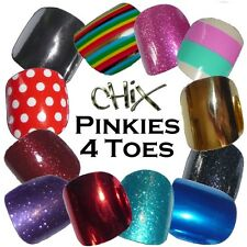 PINKIES Just 4 Toes CHIX NAILS Vinyl Nail Wraps Fingers Toes Salon Decal Foils