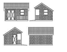 Shed Plans 16X12 Blueprint Shed 12'X16 Front Porch Salt Box Plans 17-1216Ssbfp-1