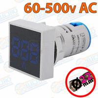 Voltimetro Digital Panel AC60-500v 22mm LED - AZUL