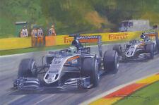 Nico Hulkenberg Force India 2016 Formula 1 F1 Motor Racing Car Birthday Card