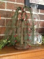 PRIMITIVE COUNTRY CHRISTMAS RED/PINE WILLOW TREE HOME DECOR 12 INCH