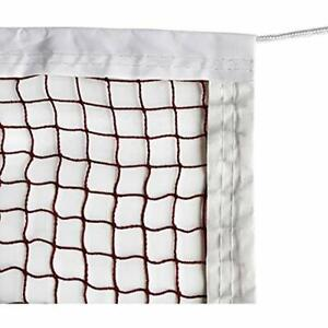 """Badminton Tournament Net With Rope Cable (20 FT X 2.5 FT) Sports """" Outdoors Nets"""