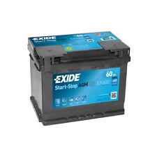 1x Exide Stop Start 60Ah 680CCA 12v 027 AGM Car Battery 4 Year Warranty - EK600