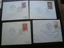 FRANCE - 4 enveloppes 1er jour 1960/1961/1961/1966(cy84) french