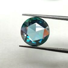 Dark Blue Round Rose Cut For Ring/Jewelry Loose Moissanite 4.67 Ct 11.66 Mm Vvs1