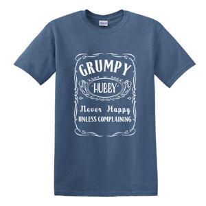 Grumpy Hubby t-shirt funny amusing grumpy old man husband his mens moody