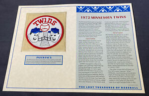 Willabee & Ward Lost Treasures Of Baseball Collection 1972 Minnesota Twins Patch