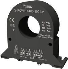 QI-POWER-485-300-LV: Energy meter monofase RS485 AC/DC TRMS 80Vac/100Vdc; 300 A