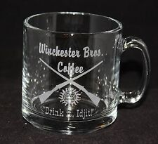 Supernatural Winchester Brothers Custom Etched Coffee Cup