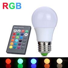 LAMPADINA LAMPADA LED 5 W 5W WAT RGB TELECOMANDO LUCE COLORI MULTICOLOR E27 SC0