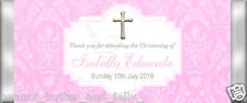 Personalised Religious Christening Chocolate Bar Wrapper (only) x10 wrap($1 ea)