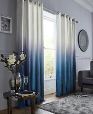 Ombre Luxury Velvet Lined Ring Top Curtains Range (Pair) - Various Sizes