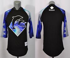 Pink Dolphin 3/4 Sleeve T-Shirt Small Jersey Streetwear Yung L Waves Black Blue
