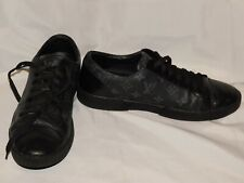 LOUIS VUITTON BLACK LEATHER SNEAKERS SIZE 9
