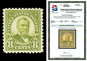 Scott 560 1923 8c Grant Flat Plate Issue Mint Graded XF-90 NH with PSE CERT!