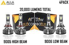 Alla Lighting LED High Low Beam Headlight Bulb Light Kit for GMC, Xenon White