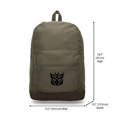 Transformers Robots in Disguise Decepticon Symbol Laptop Backpack School Bag