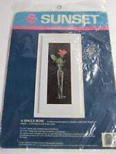 Sunset Counted Cross Stitch Kit A Single Rose 13521