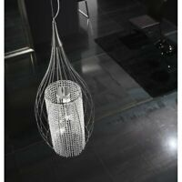 Metal Lux Stilla 3 Light Crystal Pendant Silver Hangling Ceiling RRP £609