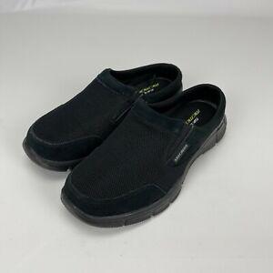 Skechers Mens Sport Equalizer Coast to Coast Black Mule Slip On Shoes Size 6.5