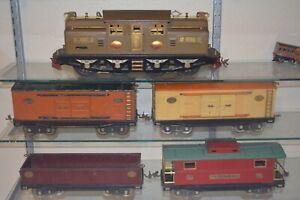 Lionel Prewar Standard Gauge Set 402 213 Cattle, 214 212 Gondola, 217 Caboose