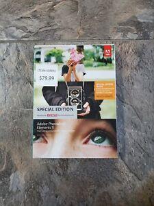Adobe Photoshop Elements 11 DVD Media & Serial Number Key