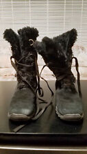 Sporto Winter Boots Womens 9M Black Suede Waterproof Lace Up