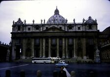 1966 35mm slide - St. Peter's Basilica,Vatican City Italy-vintage cars & coaches