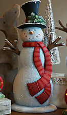 "Ceramic Bisque Ready to Paint Tall Snowman 17.5"" tall"