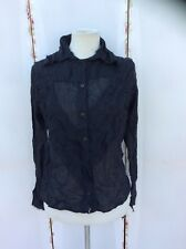 Goth/Gothic Heavy Red Couture Black Blouse - BNWT