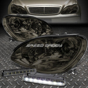 SMOKED PROJECTOR HEADLIGHT+SIGNAL+LED FOG LIGHT FOR W220 MERCEDES BENZ S-CLASS