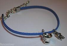 Once Upon A Time bracelet suedine breloque tasse belle love OUAT charm bracelet
