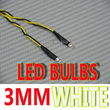 RC LED BULBS Pair On One Line 3mm WHITE