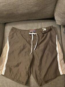Wonderwall Swimming Board Short Mens Brown Swimwear Size 36