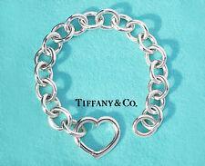 Tiffany & Co Plata Esterlina Pulsera Corazón Broche de 7.5 pulgadas