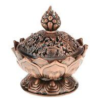 Lotus Incense Smoke Cone Aroma Burner Holder Stove Backflow Censer Decor - Coppe