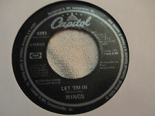 "Wings ""Beware My Love/ Let Em In"" Capitol 7"" 45"