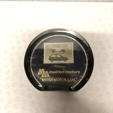 AUSTIN SEVEN & METRO 1982 STAMP PAPER WEIGHT, HAND MADE IN WALES