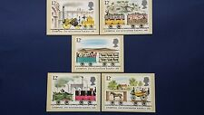 1980 150th ANNIV. OF THE LIVERPOOL AND MANCHESTER RAILWAY STAMPS PHQ CARDS F.D.I