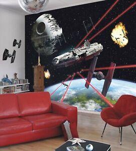 Giant Wall mural Wallpaper Star Wars battle Starships for bedroom - DAMAGED
