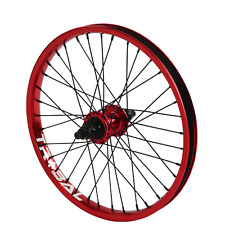 "Tribal BMX Rear Wheel 20"" Rim - 9 Tooth Cassette Hub - Red"