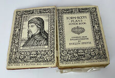 Form Room Plays Junior Book English Literature Evelyn Smith Fourth Edition 1924